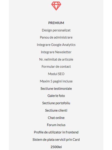 Creare Site Web de Prezentare PREMIUM