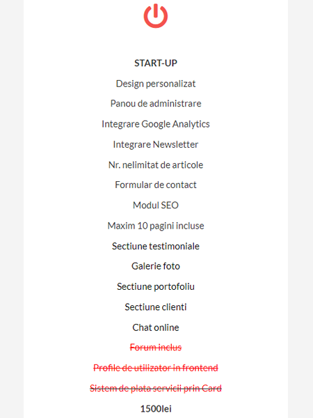 Creare site de prezentare START-UP